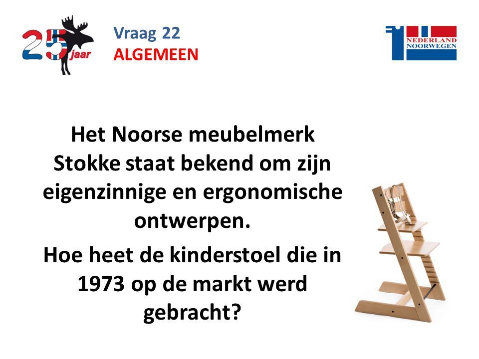 Vraag 22 Het Noorse meubelmerk Stokke staat bekend om zijn eigenzinnige en ergonomische ontwerpen.