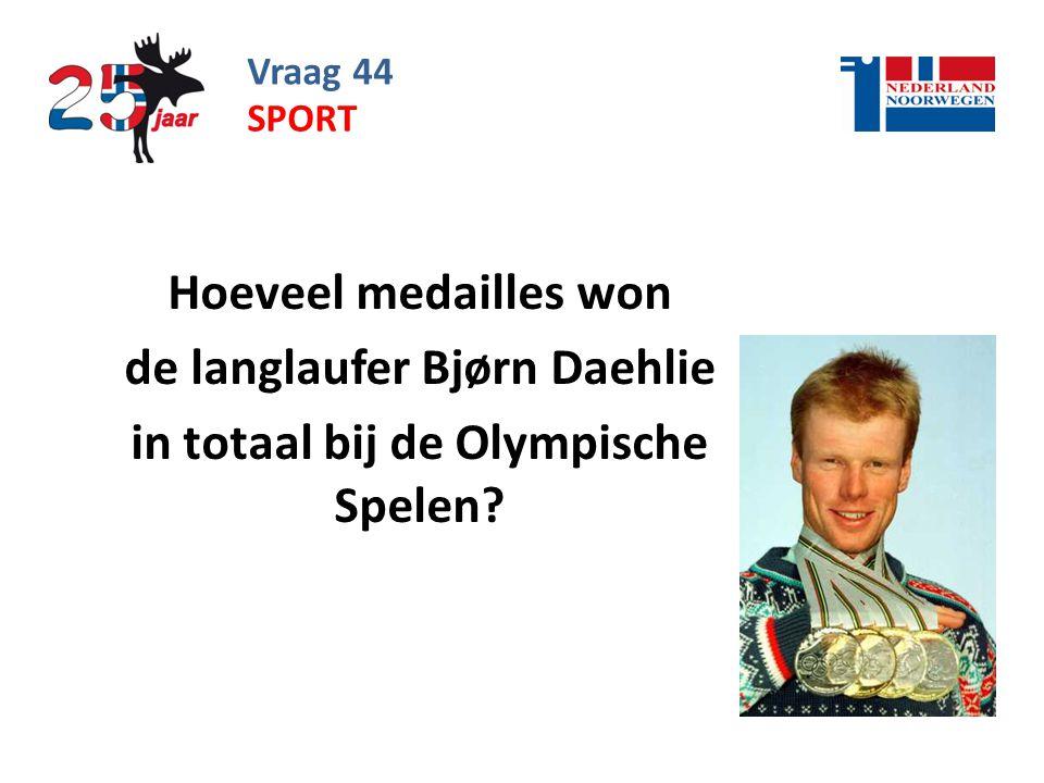 Vraag 44 Hoeveel medailles won de langlaufer Bjørn Daehlie in totaal bij de Olympische Spelen.
