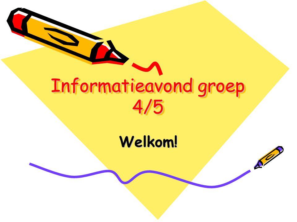 Informatieavond groep 4/5 Welkom!