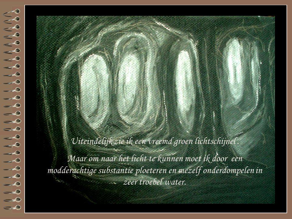 Ik bevind me in een onderaards ruimte. Het is geen grot want de zuilen zijn organisch maar leven is er niet te zien. Ik kijk rond en zoek een uitweg…