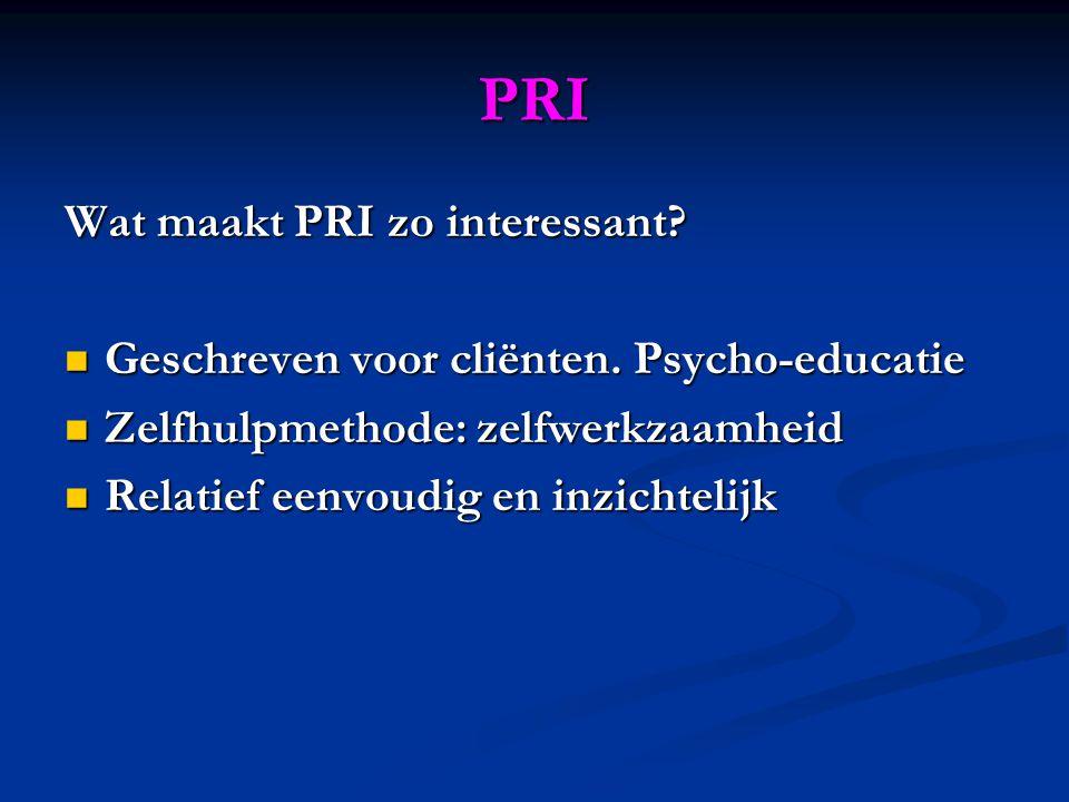 PRI Wat maakt PRI zo interessant. Geschreven voor cliënten.