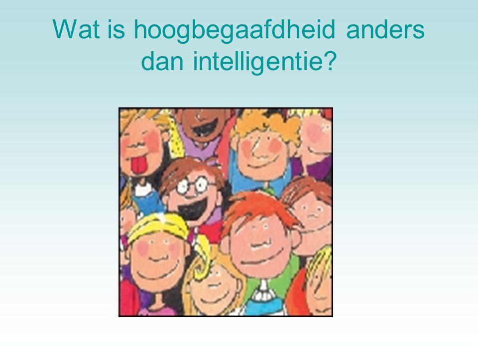 Wat is hoogbegaafdheid anders dan intelligentie?
