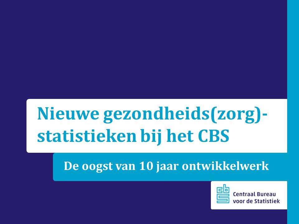 De oogst van 10 jaar ontwikkelwerk Nieuwe gezondheids(zorg)- statistieken bij het CBS
