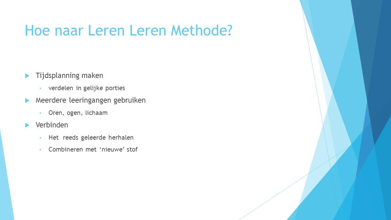 Hoe naar Leren Leren Methode.