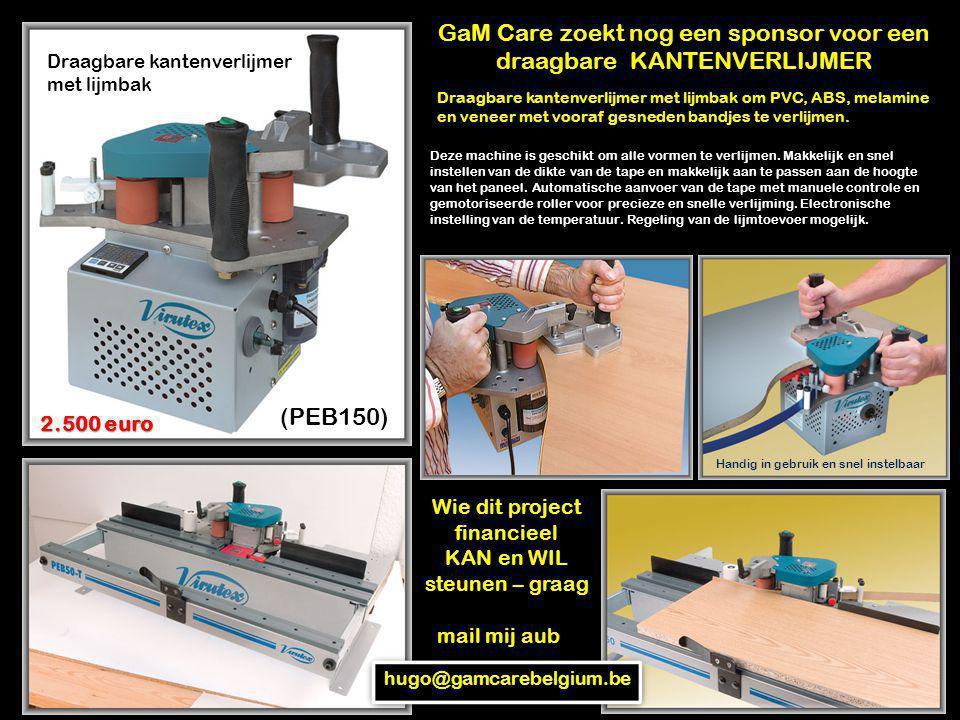 Draagbare kantenverlijmer met lijmbak (PEB150) Draagbare kantenverlijmer met lijmbak om PVC, ABS, melamine en veneer met vooraf gesneden bandjes te ve