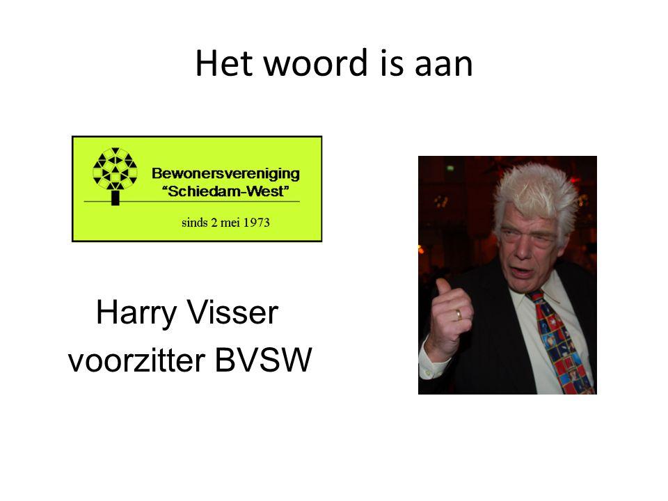 Het woord is aan Harry Visser voorzitter BVSW
