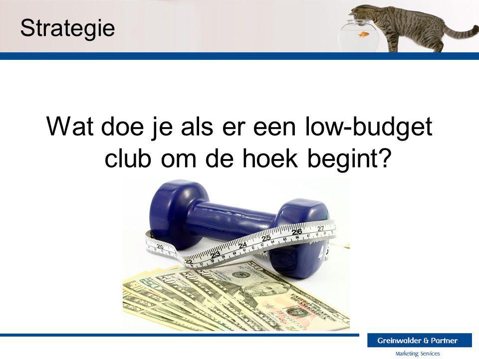 Strategie Wat doe je als er een low-budget club om de hoek begint?