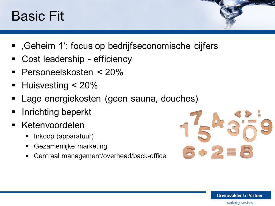  'Geheim 1': focus op bedrijfseconomische cijfers  Cost leadership - efficiency  Personeelskosten < 20%  Huisvesting < 20%  Lage energiekosten (g