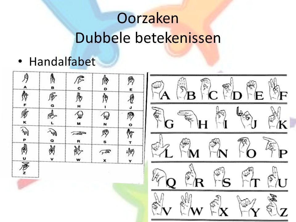 Oorzaken Dubbele betekenissen • Handalfabet