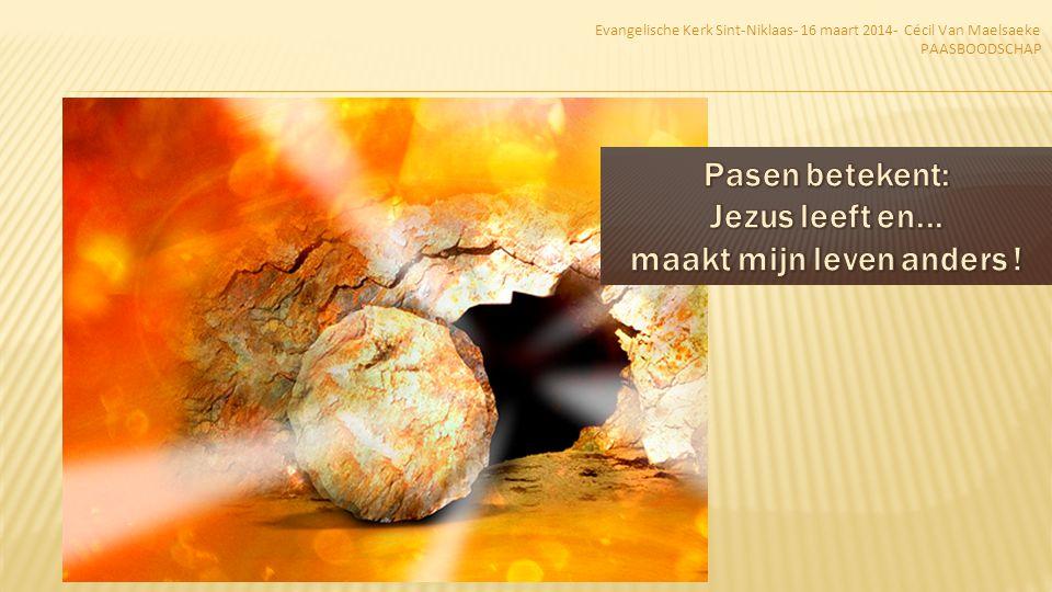 1.Heel bijzonder 2.De kernboodschap van de Bijbel 3.Bepalend voor mijn geloof en leven Evangelische Kerk Sint-Niklaas- 16 maart 2014- Cécil Van Maelsaeke PAASBOODSCHAP