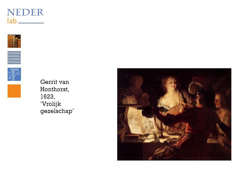 Gerrit van Honthorst, 1623, 'Vrolijk gezelschap'