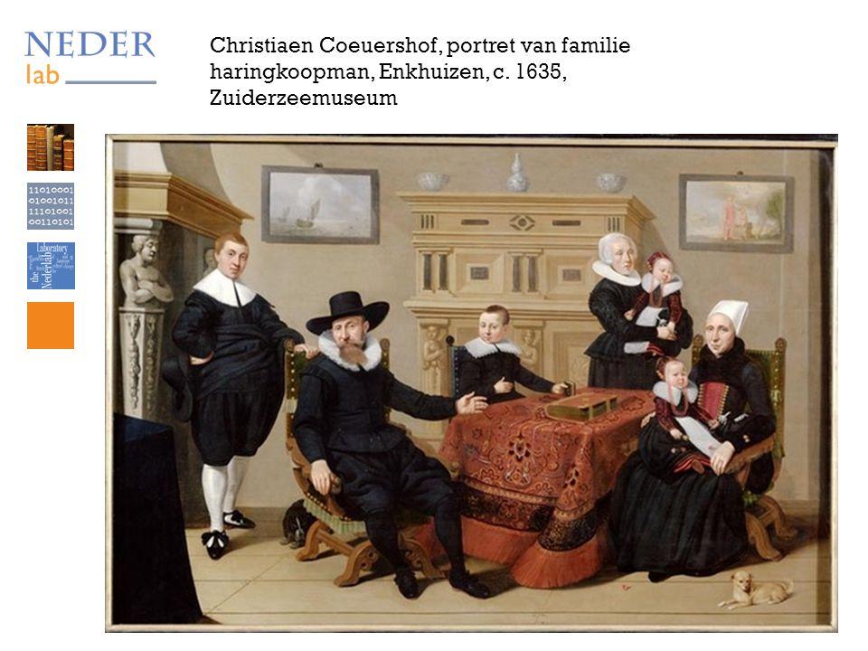Christiaen Coeuershof, portret van familie haringkoopman, Enkhuizen, c. 1635, Zuiderzeemuseum