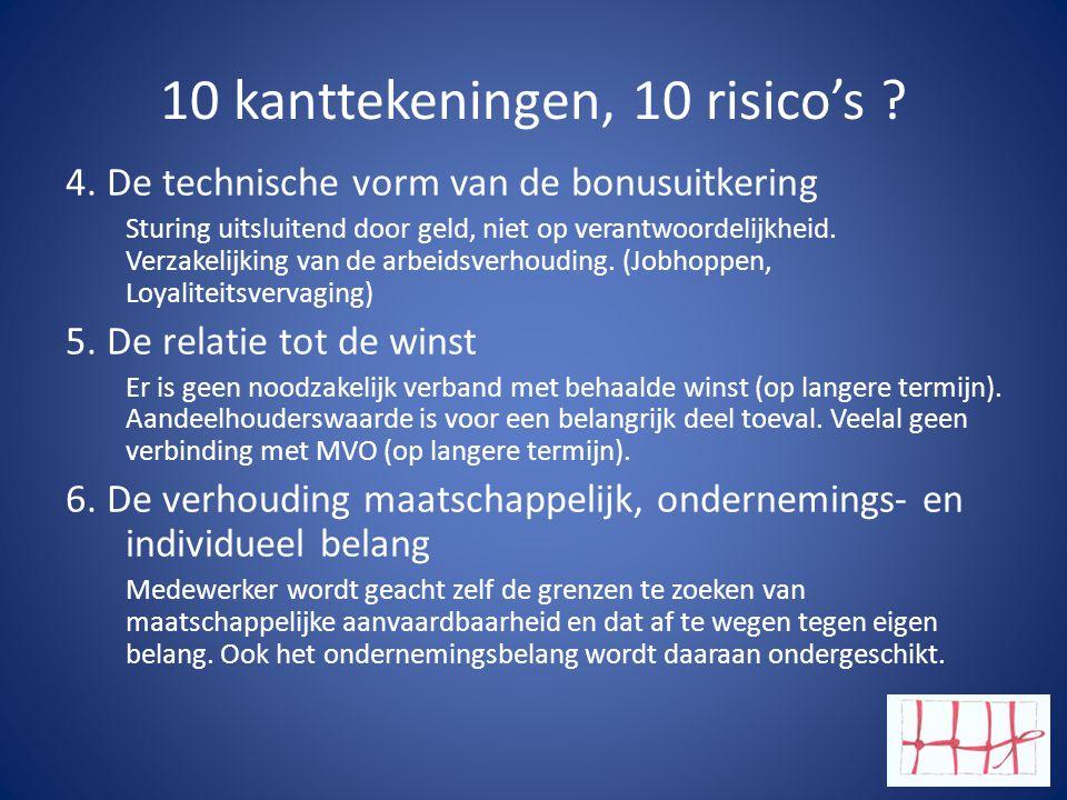10 kanttekeningen, 10 risico's .4.
