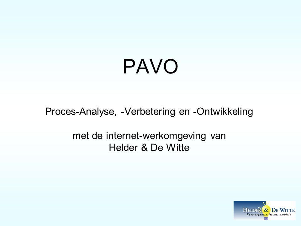 PAVO Proces-Analyse, -Verbetering en -Ontwikkeling met de internet-werkomgeving van Helder & De Witte