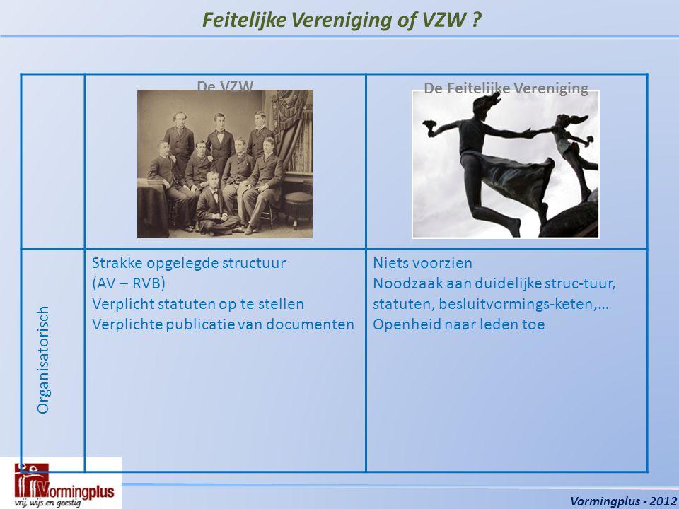 Feitelijke Vereniging of VZW .