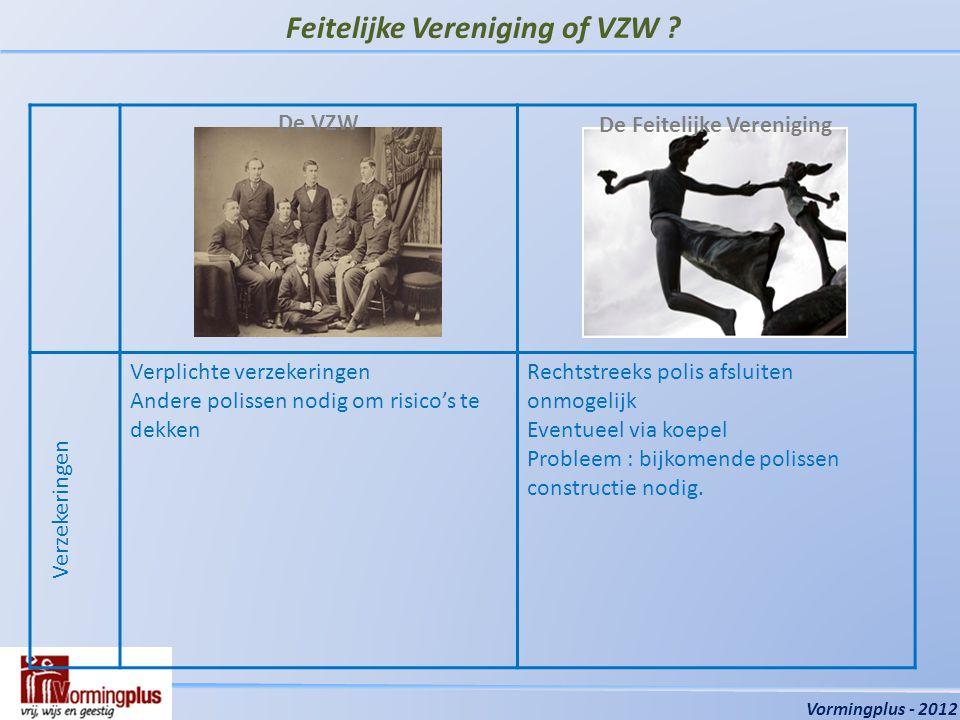 Organisaties en Verzekeringen Vormingplus - 2012 Zijn er nog vragen ?