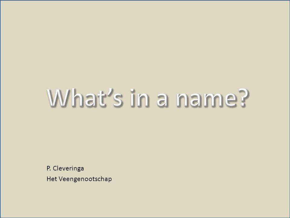 P. Cleveringa Het Veengenootschap