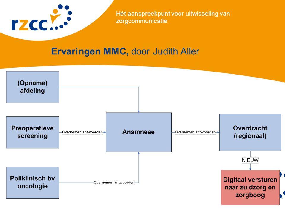 Hét aanspreekpunt voor uitwisseling van zorgcommunicatie Ervaringen MMC, door Judith Aller