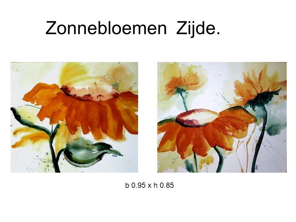 Zonnebloemen Zijde. b 0.95 x h 0.85