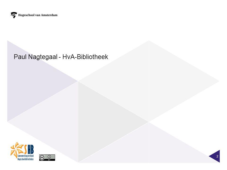 2 Paul Nagtegaal - HvA-Bibliotheek