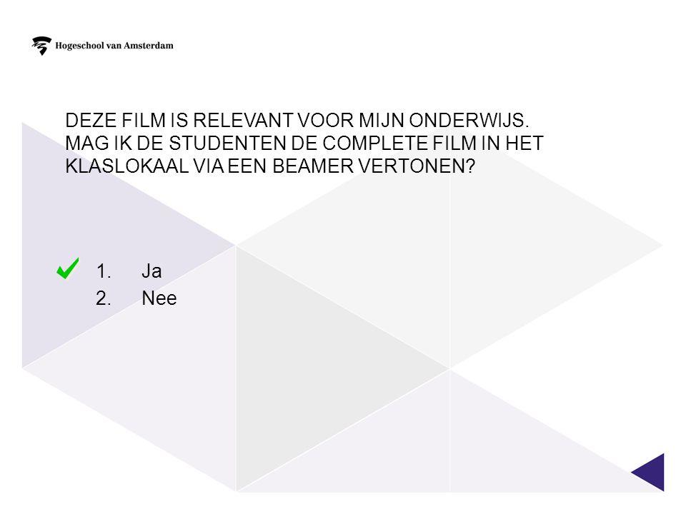 DE STUDENTEN WILLEN DE FILM GRAAG NOG EEN KEER BEKIJKEN.