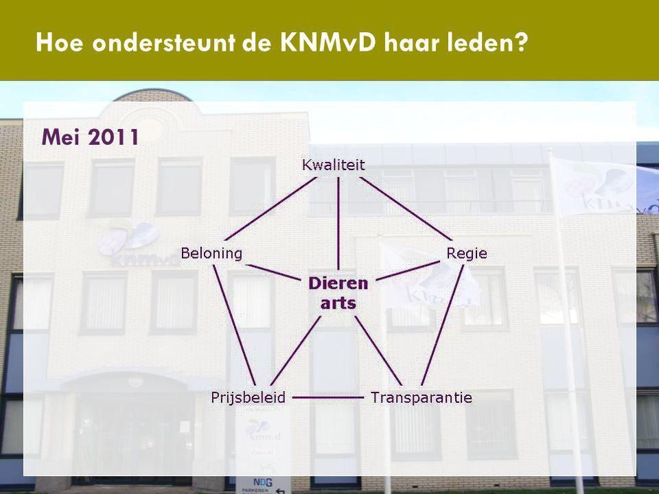 Antwoord van de KNMvD Hoe ondersteunt de KNMvD haar leden? Mei 2011