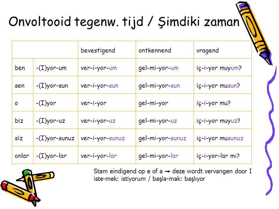 Het werkwoord zijn / Şimdiki zaman bevestigendontkennendvragend ben-(y)Imhasta-y-ımhasta de ğ il-imhasta mıyım.