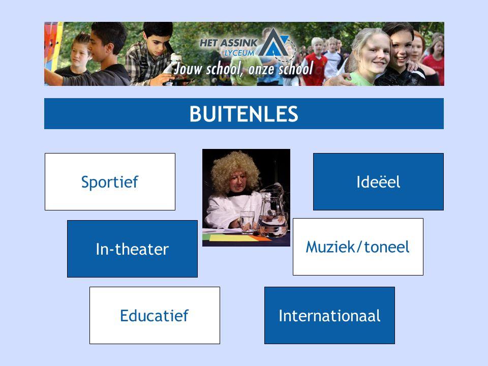 BUITENLES EducatiefInternationaal Muziek/toneel Sportief In-theater Ideëel