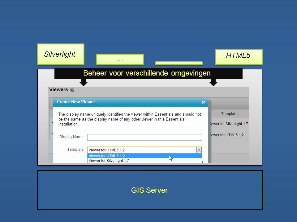 GIS Server Beheer voor verschillende omgevingen Silverlight HTML5 …