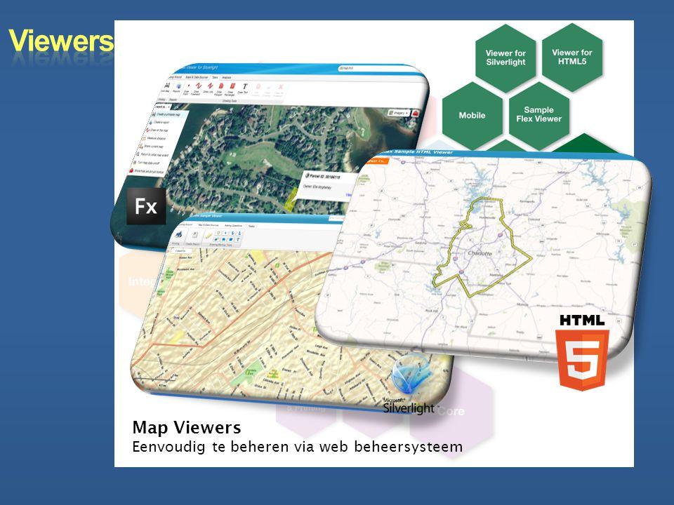 Map Viewers Eenvoudig te beheren via web beheersysteem