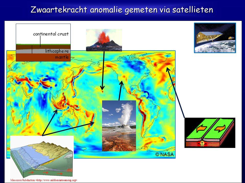 Bouguer-zwaartekracht anomalie Everaerts, 2005 Blauw: - Invloed van gesteente met lagere dichtheid (Ardennen, het Bekken van Parijs) - Roerdalslenk: l