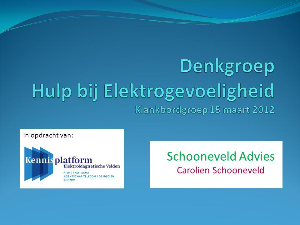 Schooneveld Advies Carolien Schooneveld In opdracht van: