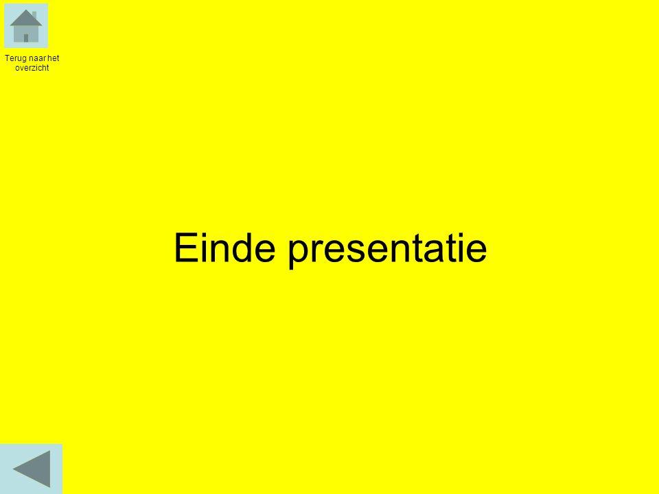 Einde presentatie Terug naar het overzicht