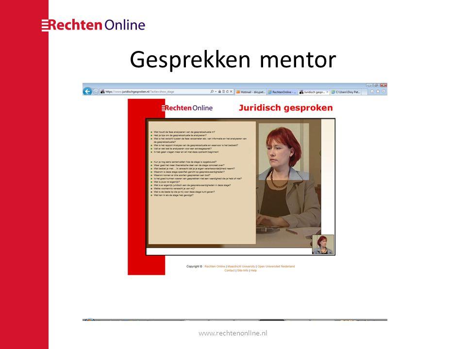Gesprekschecker www.rechtenonline.nl