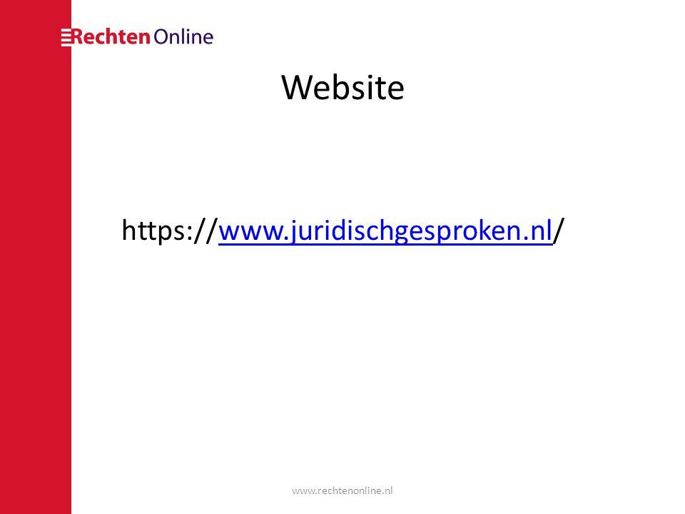 Website https://www.juridischgesproken.nl/www.juridischgesproken.nl www.rechtenonline.nl