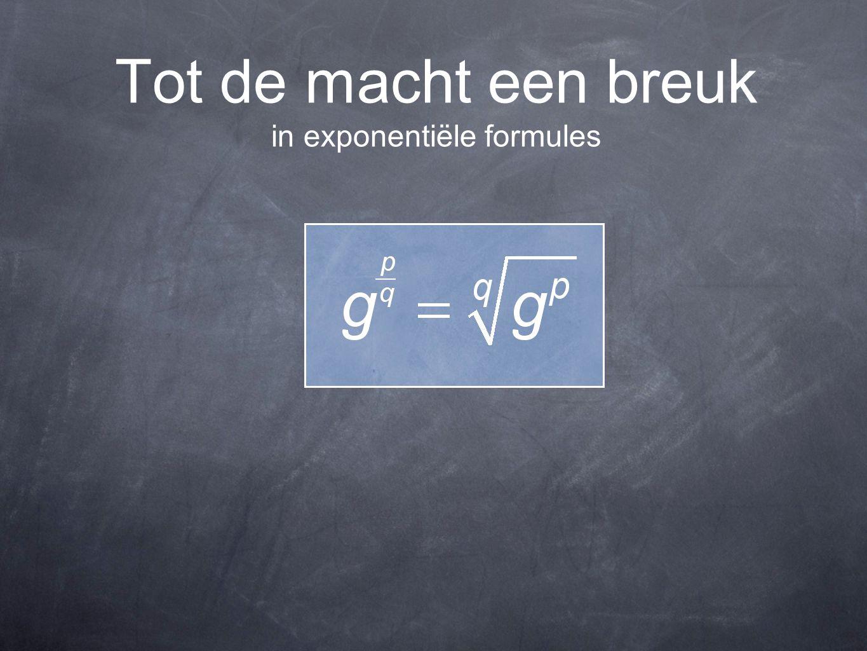 Tot de macht een breuk in exponentiële formules
