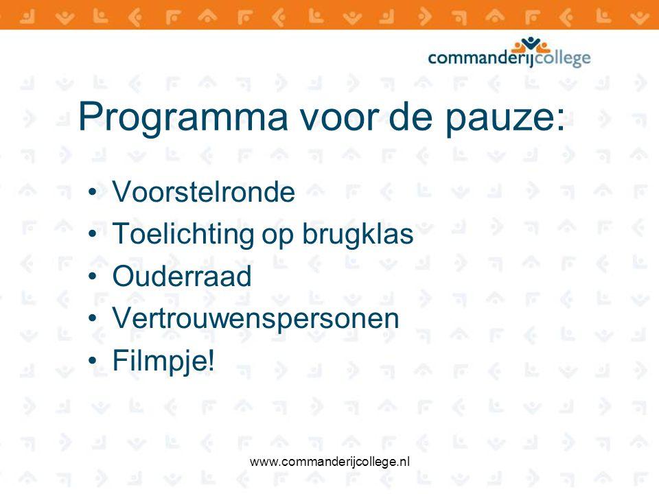 Schoolleiding havo/vwo Directie havo/vwo Team 1Team 2Team 3Team 4Team 5 www.commanderijcollege.nl Dhr.