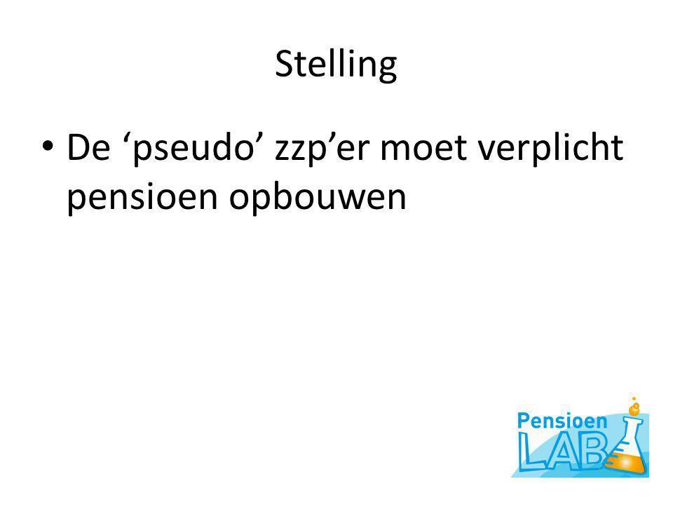 Stelling • De 'pseudo' zzp'er moet verplicht pensioen opbouwen
