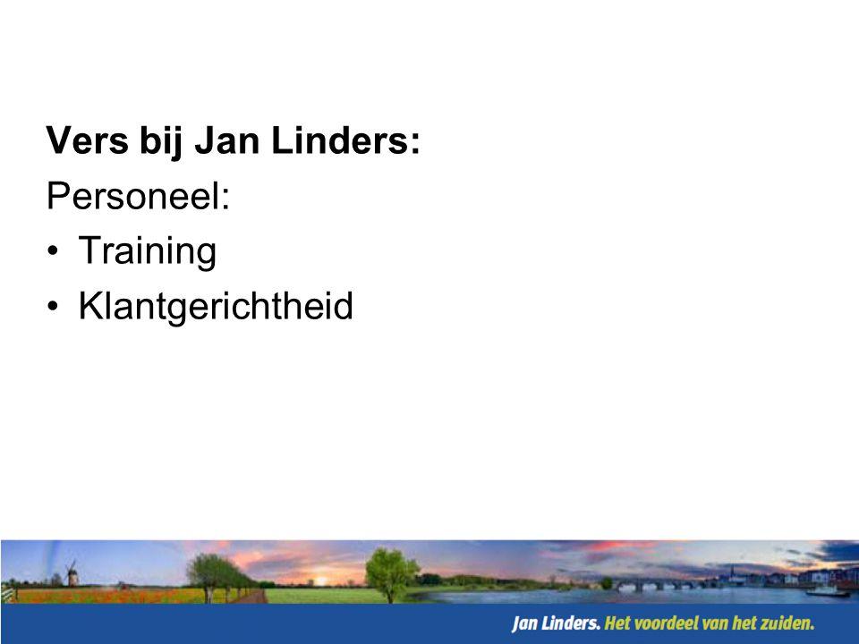 Vers bij Jan Linders: Prijs: •In lijn met concurrentie •Wel hoge price-off