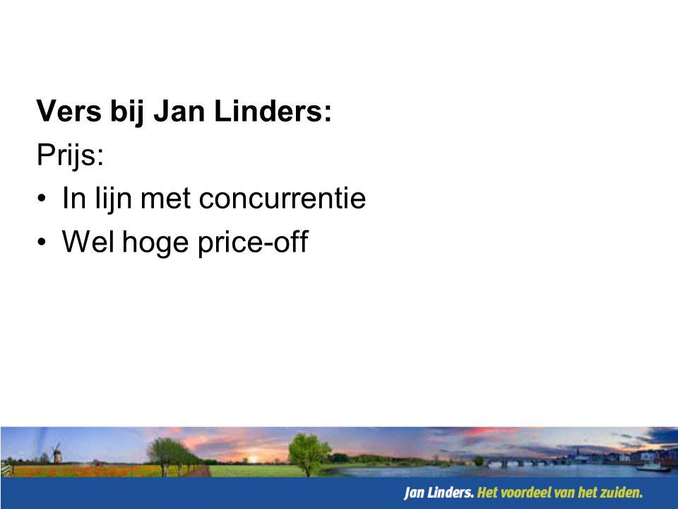 Vers bij Jan Linders: Just-in-time: •Up to date distributie •Forecast & Replenish