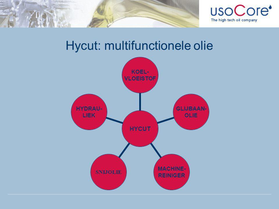 HYCUT KOEL- VLOEISTOF GLIJBAAN- OLIE MACHINE- REINIGER SNIJOLIE HYDRAU- LIEK Hycut: multifunctionele olie