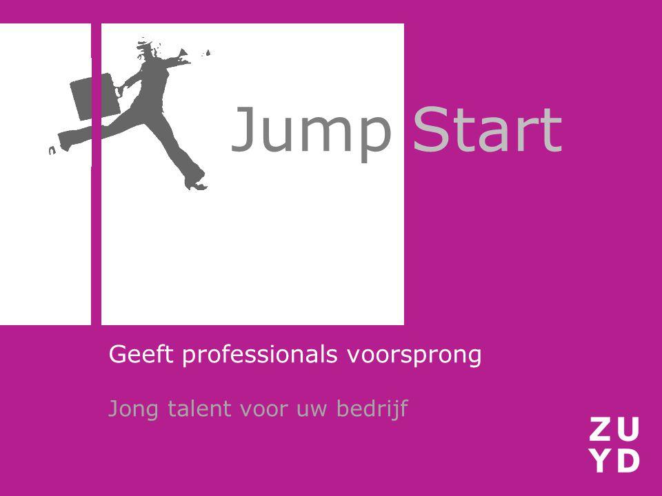 Jump Start Geeft professionals voorsprong Jong talent voor uw bedrijf