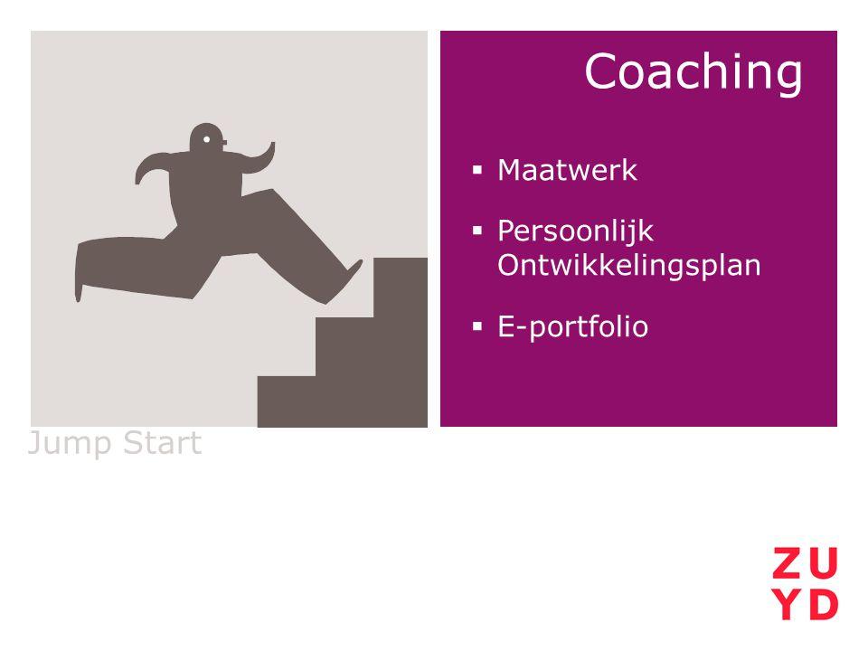 Jump Start Coaching  Maatwerk  Persoonlijk Ontwikkelingsplan  E-portfolio