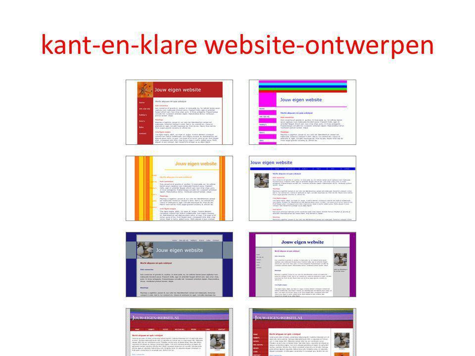 kant-en-klare website-ontwerpen