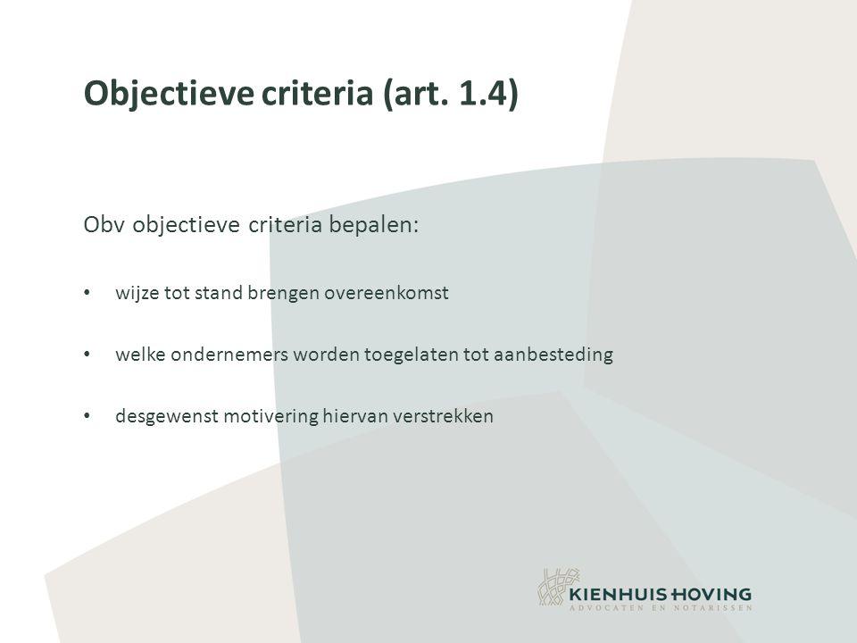 Objectieve criteria (art.