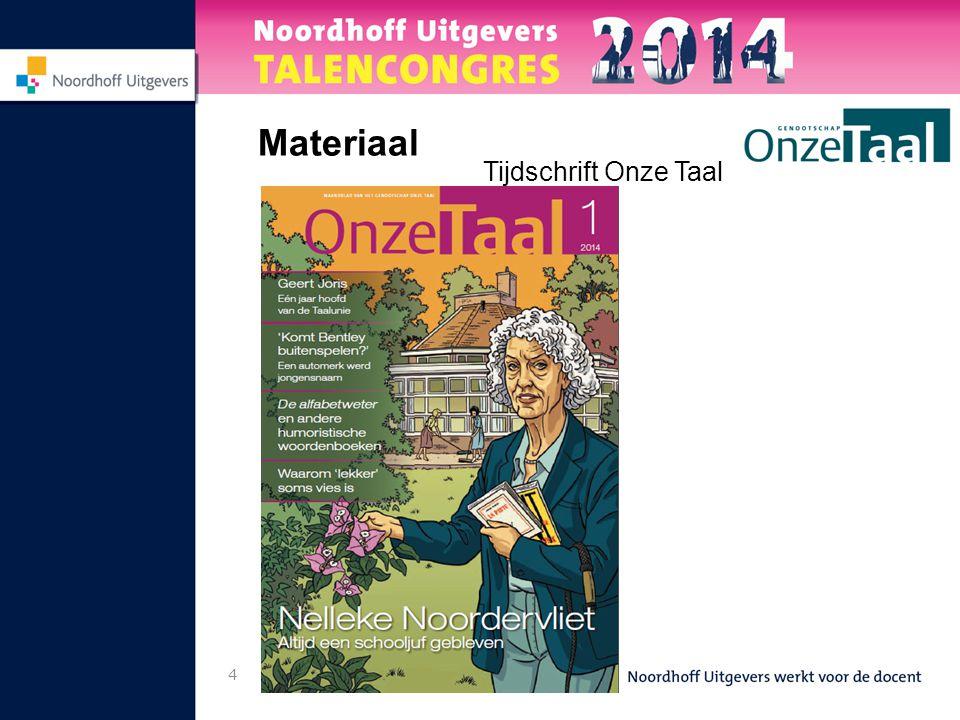 4 Materiaal Tijdschrift Onze Taal