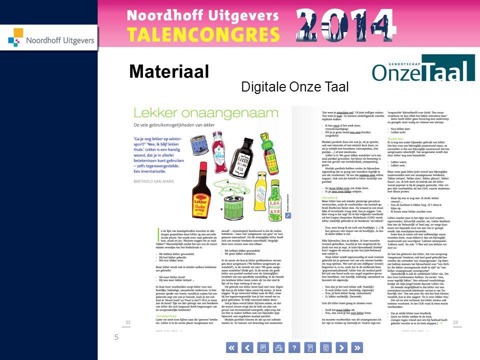 5 Materiaal Digitale Onze Taal