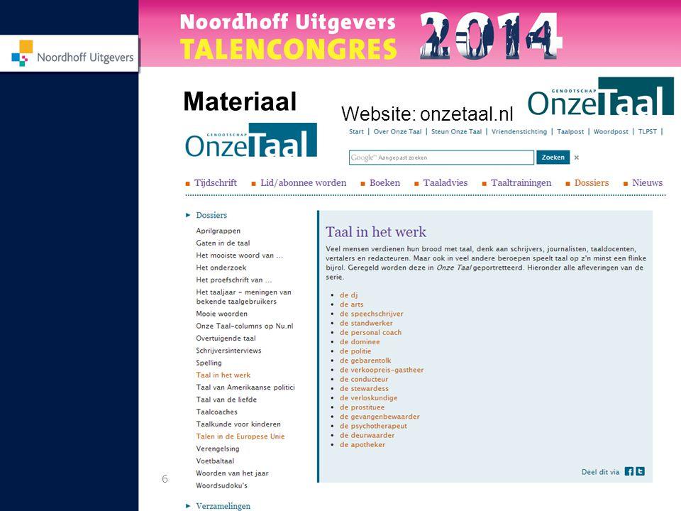 6 Materiaal Website: onzetaal.nl
