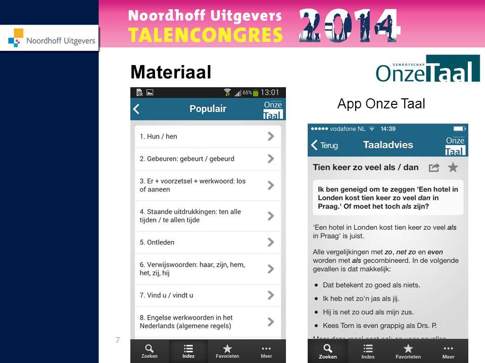 7 Materiaal App Onze Taal