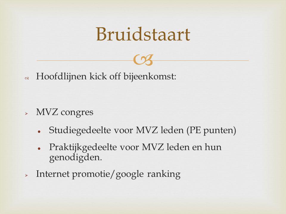   Activiteiten MVZ PR commissie: 1. Voorbereiding van en toelichting op 9 oktober 2013 2.